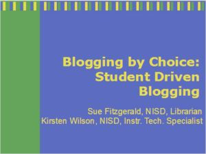 Blogging by Choice palooza