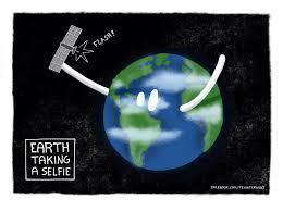 earth taking a selfie