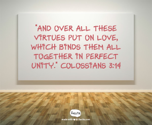 Colossians 3 v 14