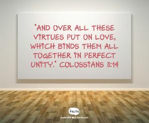 Colossians 3 v 14